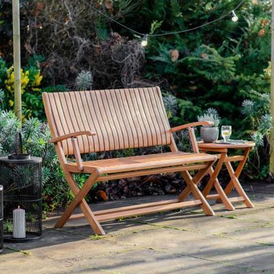 Corfu Outdoor Folding Bench