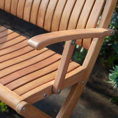 Corfu Outdoor Folding Bench image 2