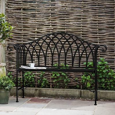 Duchess Antique Outdoor Metal Bench image 5