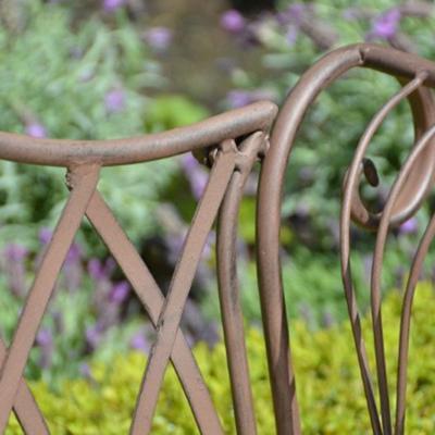Vintage Rectory Metal Garden Bench image 2