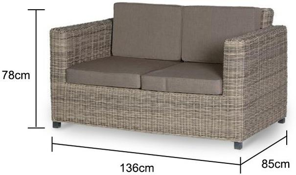 Two Seater Rattan Outdoor Sofa image 2