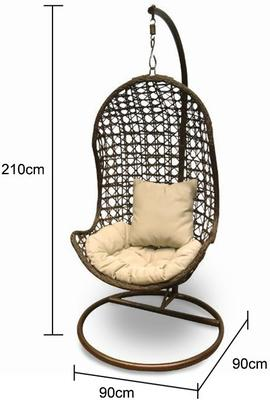 Jaliyah Hanging Outdoor Chair Rattan with Aluminium Frame image 2