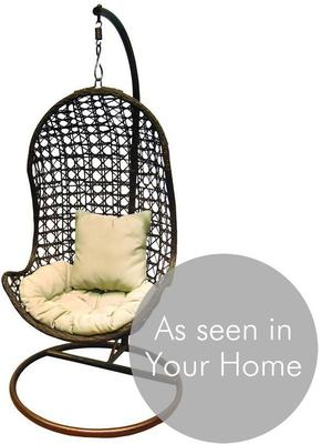Jaliyah Hanging Outdoor Chair Rattan with Aluminium Frame image 3