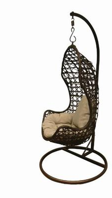 Jaliyah Hanging Outdoor Chair Rattan with Aluminium Frame image 5