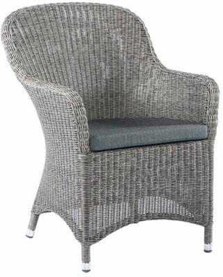 Chandra Monte Carlo Curved Top Garden Armchair With Cushion image 2