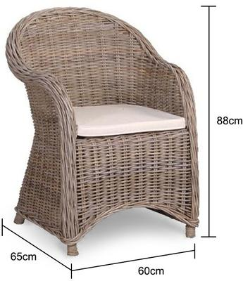 Wicker Garden Armchair image 2