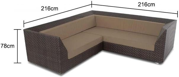 Odette Ocean Maldives Outdoor Corner Sofa With Cushion image 2