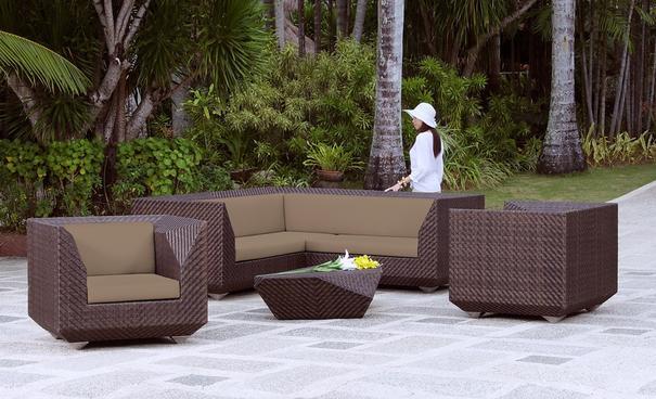 Odette Ocean Maldives Outdoor Corner Sofa With Cushion image 3
