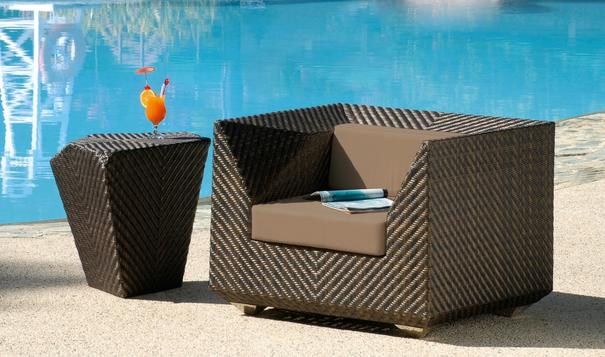 Olathe Ocean Maldives Outdoor Armchair With Cushion image 2