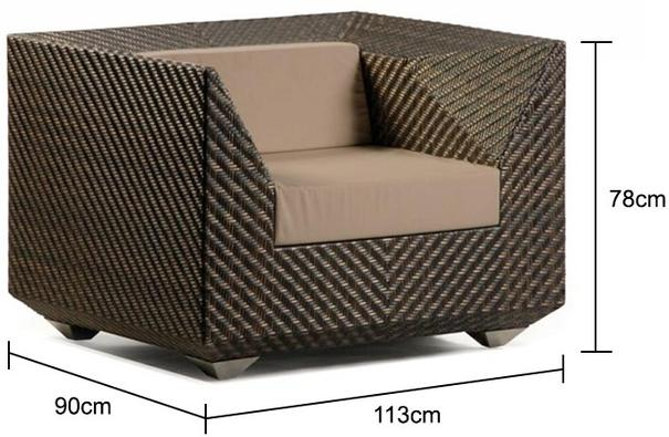 Olathe Ocean Maldives Outdoor Armchair With Cushion image 4