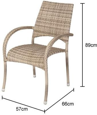 Olwen Ocean Fiji Outdoor Stacking Armchair image 7