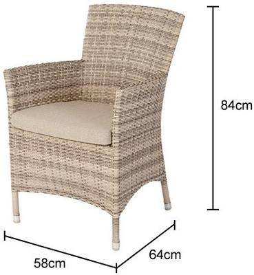 Opaline Ocean Wave Outdoor Armchair With Cushion image 6