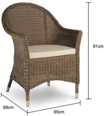 Shula San Marino Outdoor Curved Top Armchair image 2