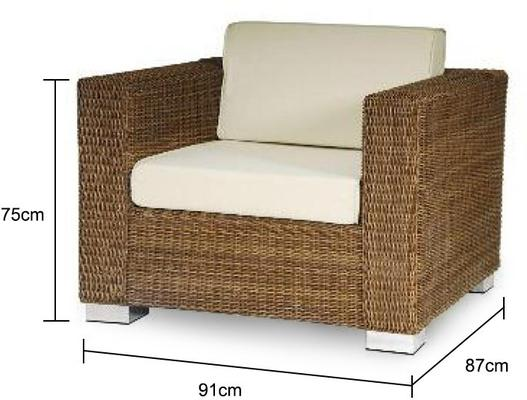 Solange San Marino Lounge Garden Chair With Cushion image 3