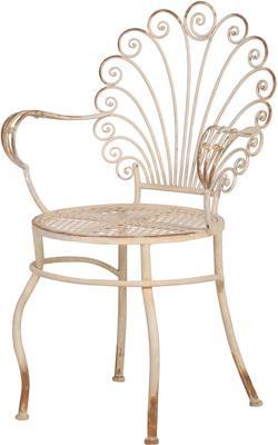 Scroll-Back Metal Garden Chair