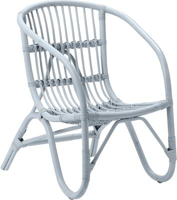 Bloomingville Small Rattan Chair - Blue