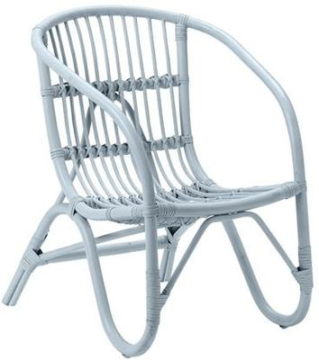Bloomingville Small Rattan Chair - Blue image 2