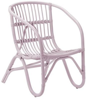 Bloomingville Small Rattan Chair - Blue image 5