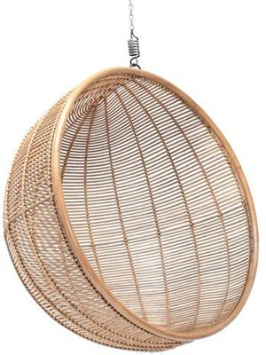 Hanging Rattan Bowl Chair in Natural image 2