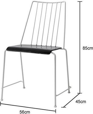 Nordic Metal Garden Chair Minimalist Design image 2