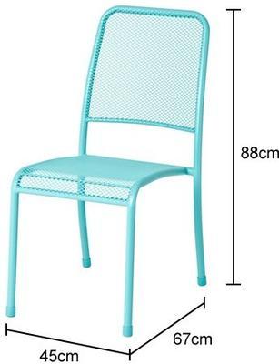 Portofino Metal Mesh Stacking Side Garden Chair image 2