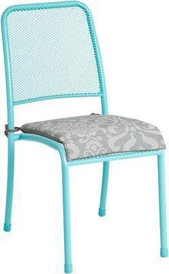 Portofino Metal Mesh Stacking Side Garden Chair image 4