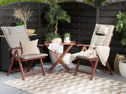 Toscana Outdoor 2 Foldable Chairs and Table Set image 2