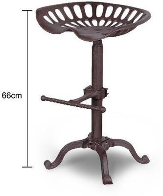 Metal Tracker Seat Stool Rustic Iron Finish image 2
