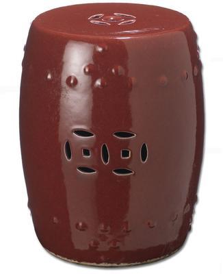 Red Ceramic Stool