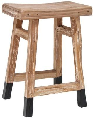 Dipped Teak Stool image 2