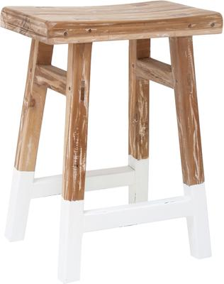 Dipped Teak Stool image 4