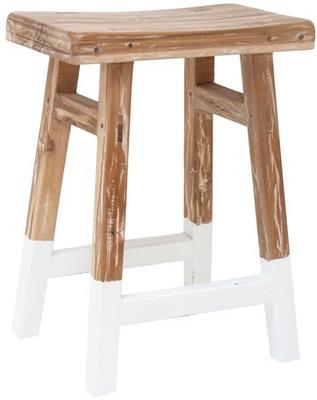 Dipped Teak Stool image 5