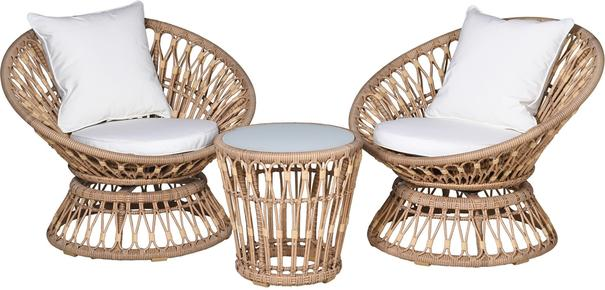 Rattan Outdoor Balcony Set - 2 chairs + table