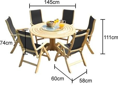 Roble Round Outdoor Dining Set - 6 Seater image 2