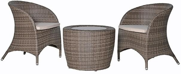 Wicker Outdoor Balcony Set Retro Style White or Brown