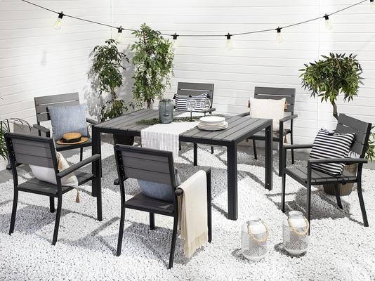 COMO Garden Table and 4 Chairs Polywood and Black image 2