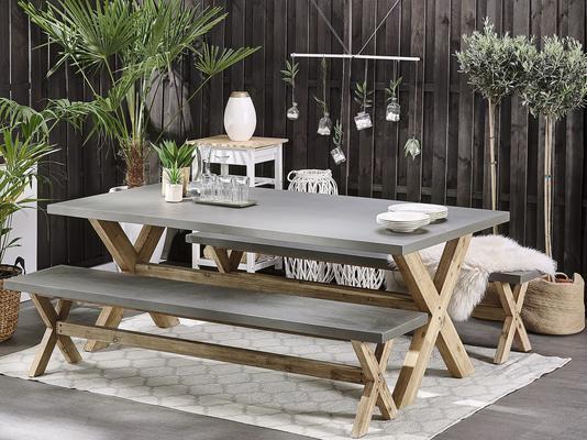 OLBIA Concrete Bench Dining Sets image 2