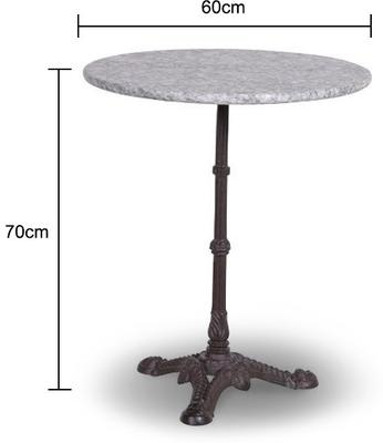 Marble Top Garden Table image 2