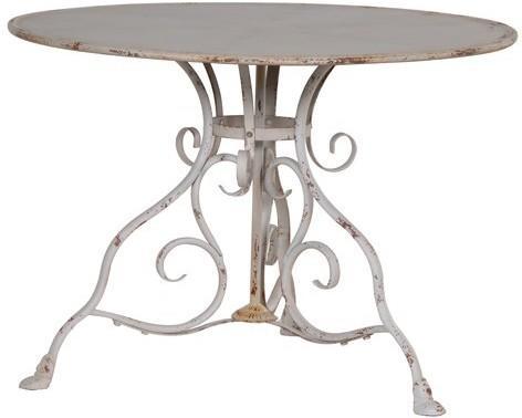 Round Garden Table Distressed Iron image 2