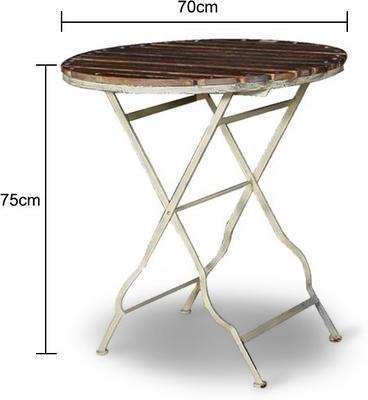 Garden Table Distressed Iron image 2