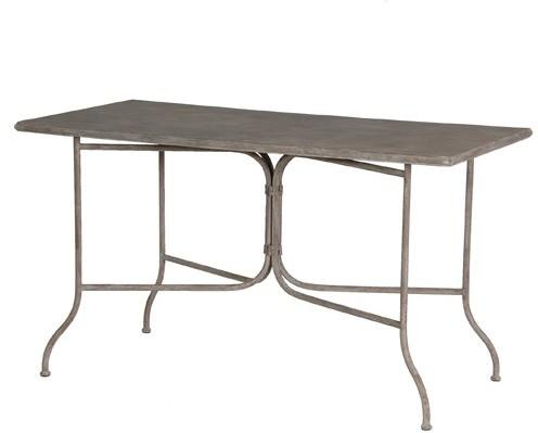 Rectangle Garden Table Distressed Iron