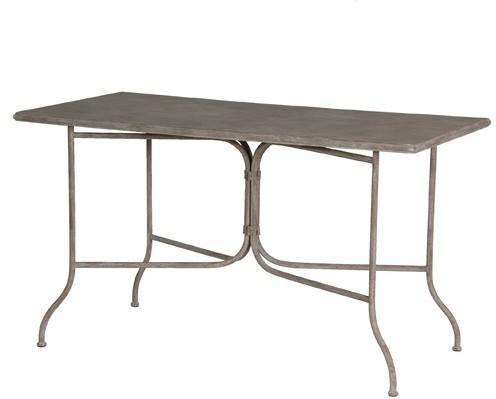 Rectangle Garden Table Distressed Iron
