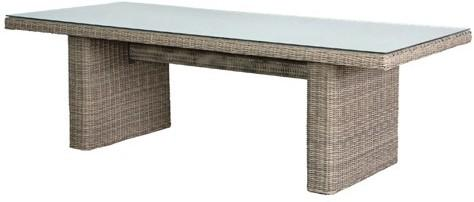Rattan Slab Garden Table