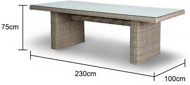Rattan Slab Garden Table image 2