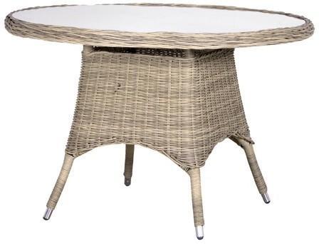 Round Rattan Garden Table