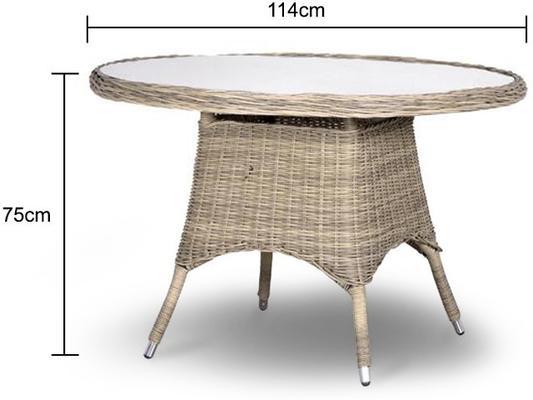 Round Rattan Garden Table image 2