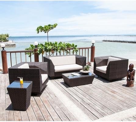 Ocean Maldives Outdoor Coffee Table Geometric Rattan
