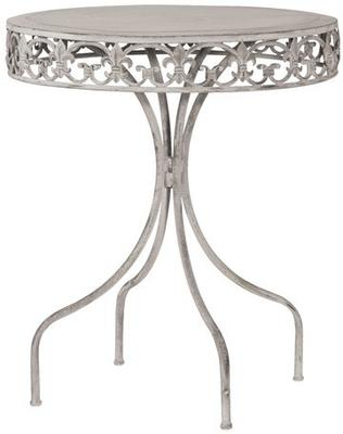 Round Garden Drinks Table Wrought Iron