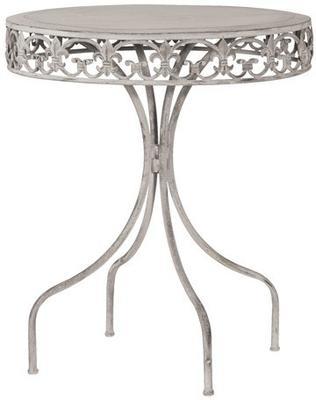Round Garden Drinks Table Wrought Iron