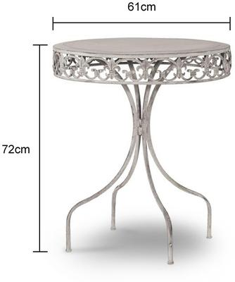 Round Garden Drinks Table Wrought Iron image 2